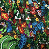 LEO LIN Grenadine Art Net Yarn Lace Embroidery Flowers Home And Garden For DIY Clothing Dress