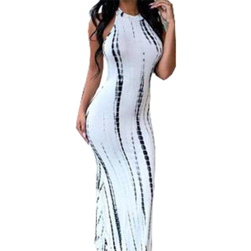 Летнее платье с вырезами, красное, белое, длинное платье без рукавов, Полосатое Платье макси с принтом, летние пляжные платья знаменитостей, ...