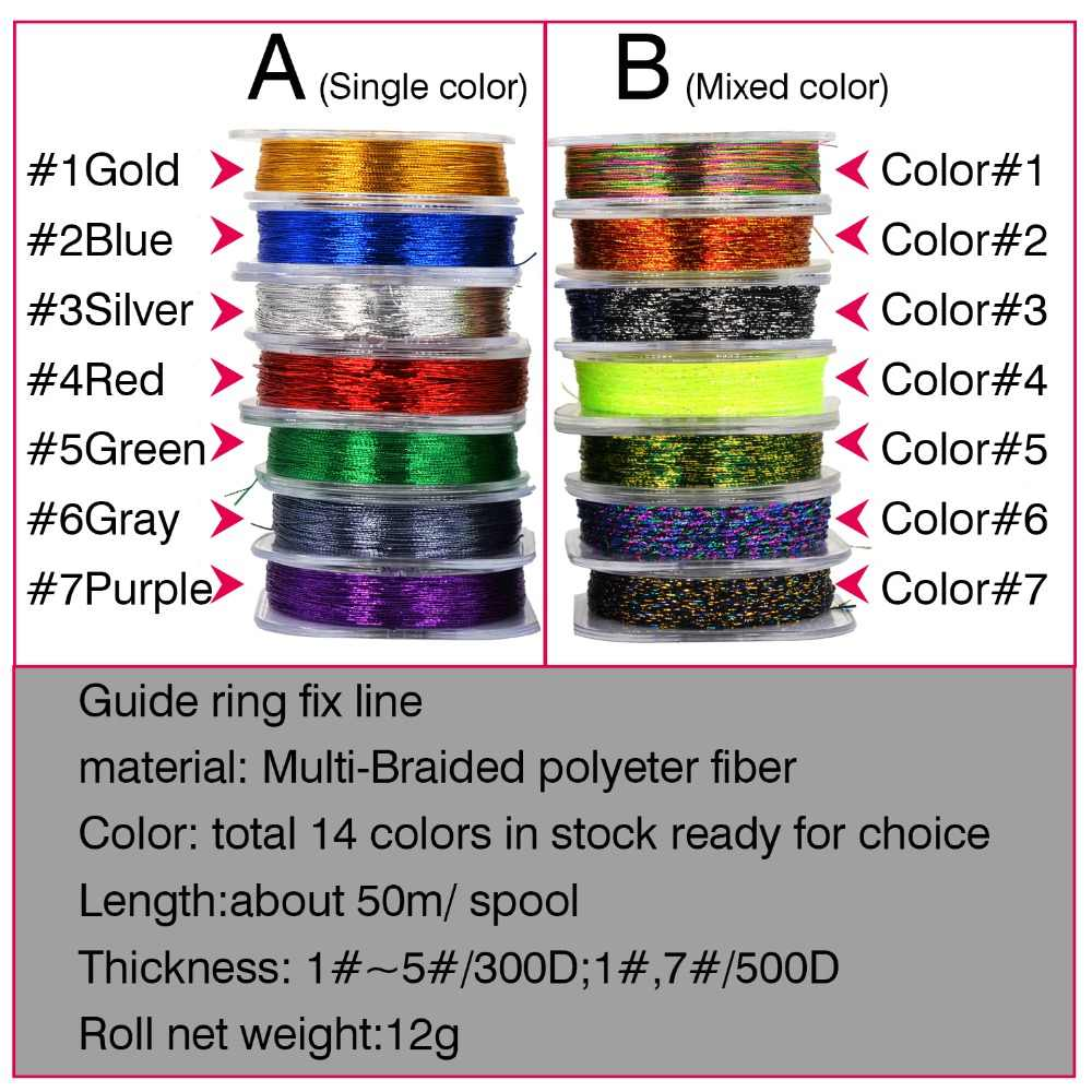 Details about  /Rod Building Wrapping Thread Line Metallic Bright Line for Rod Building DIY