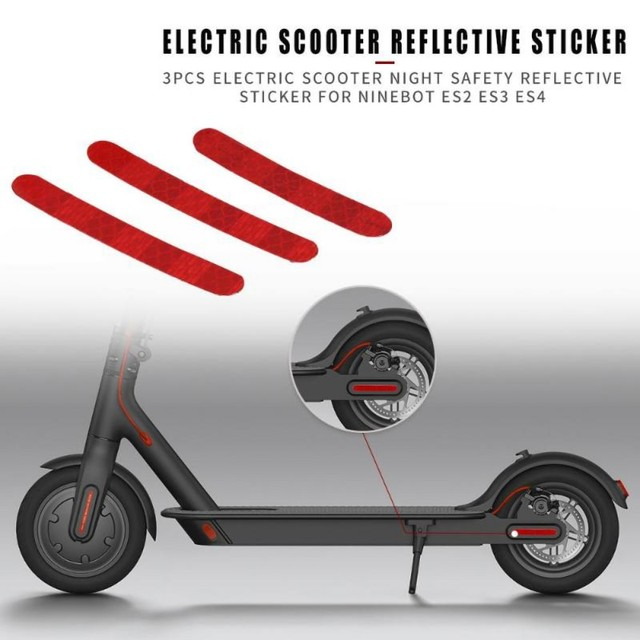 Electric Scooter Reflective Sticker Labels Scooters Night Safety Warning  Reflectors For Ninebot ES2 ES3 ES4