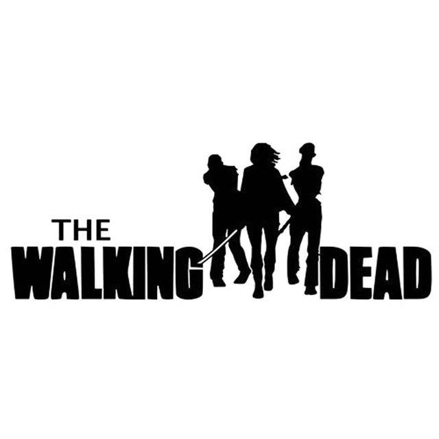 21 4cm8cm the walking dead vinyl zombie apocalypse living dead car decals car stickers