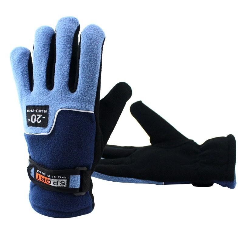 Winter Outdoor Anti-Slip Cycling Riding Hiking Gloves Men Women Warm Skiing Motorcycle Motorbike Full Finger Gloves