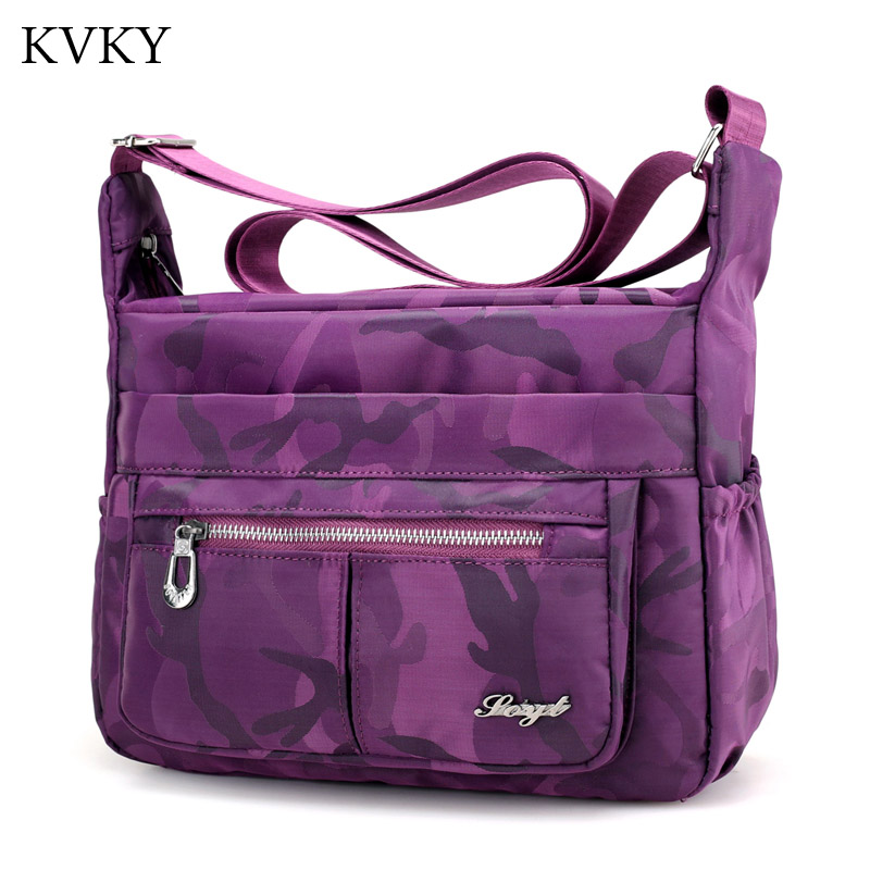 Summer Style camouflage Women Messenger Bags Handbag Waterproof Nylon Shoulder Bag Ladies Crossbody Bags bolsa feminina