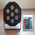 Wireless remote control led 7x9W Luxury DMX 7 Channels  LED DJ Wash Light Stage Uplighting Led lamp good quality