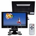 9 ''Ultrafinos HD Tela Do Monitor TFT a Cores de Carro para PC CCTV com AV/HDMI/VGA placa de Vídeo entrada, Controle Remoto, Construído em Orador