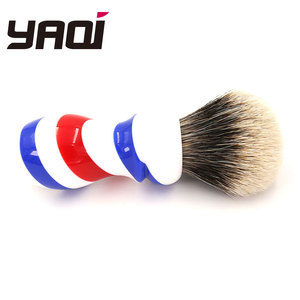 Image 3 - Yaqi New Barber Pole Style 24mm Two Band Badger Knot Shaving Brush