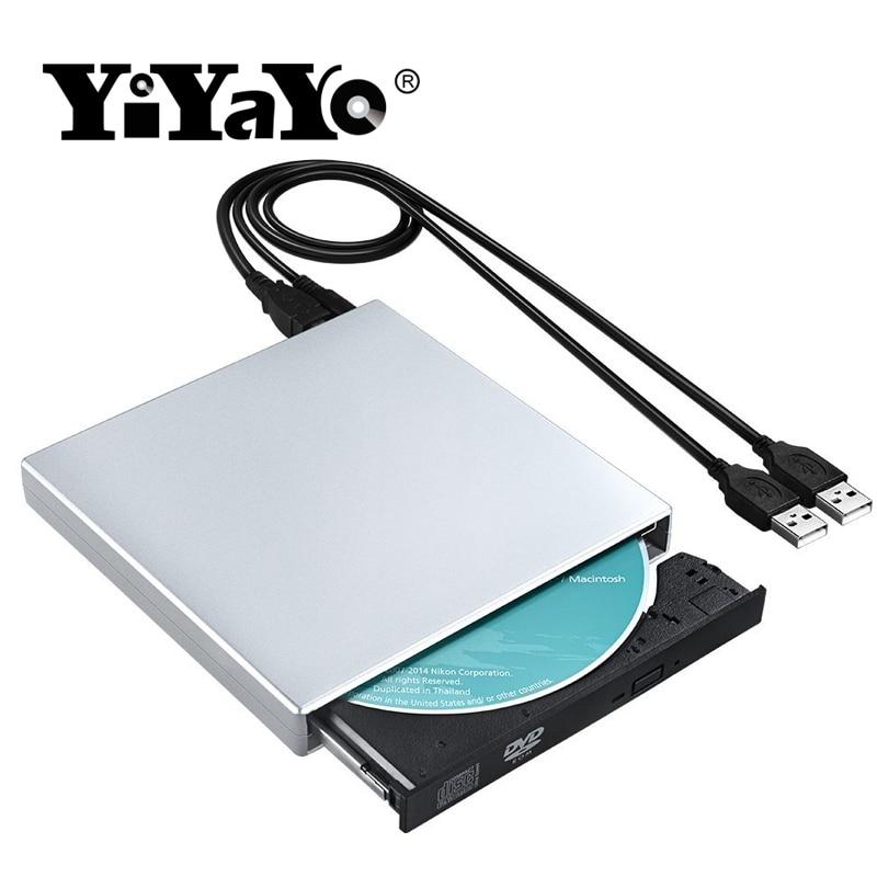 YiYaYo USB 2.0 External Portatil CD-RW Burner DVD/CD-Rom Recorder CD/DVD Player Laptop Optical Drive Windows 7/8/10 MacBook yiyayo external dvd rom optical drive usb 2 0 cd dvd rom cd rw player burner slim portable reader recorder portatil for laptop