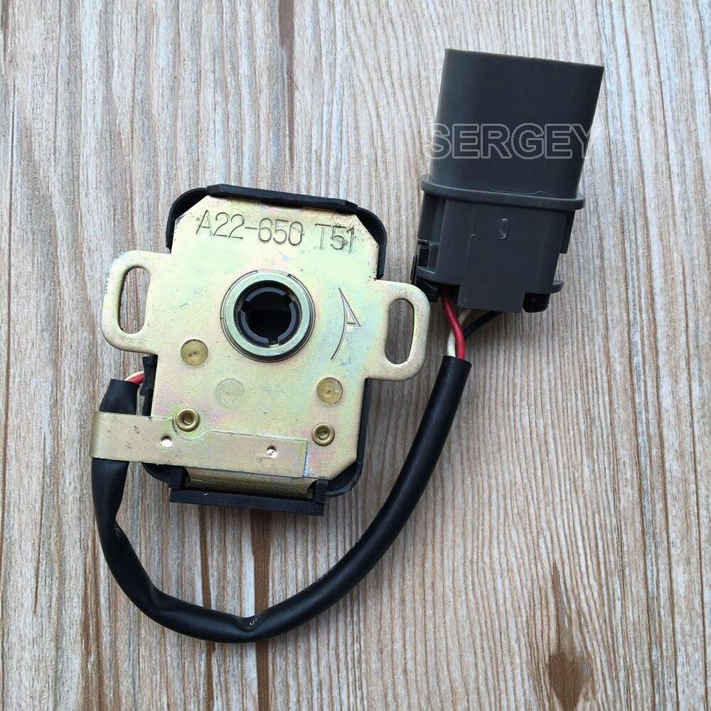 TPS Sensor A22 650 T51 A22 650 Throttle Position Sensor for NISSAN Altima 91 95 90MM