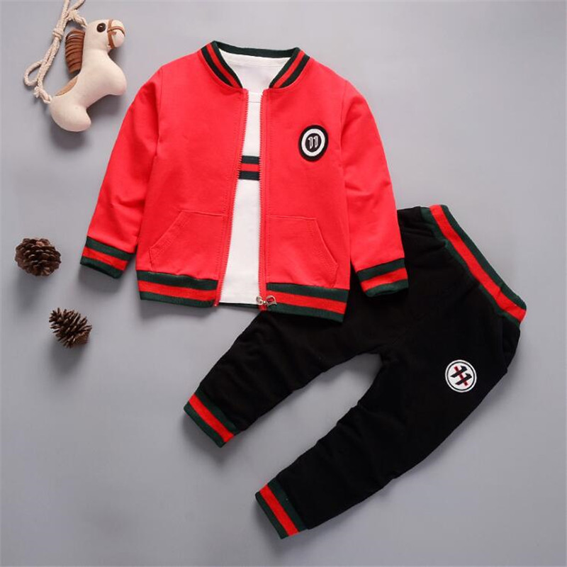 Newborn baby boys clothing set spring autumn toddler cotton sports suit for bebe boys infant coat + pants+T-shirt 3pcs clothes isudar car multimedia player 1 din android 8 1 0 dvd automotivo for vw volkswagen polo passat golf skoda octavia seat gps radio