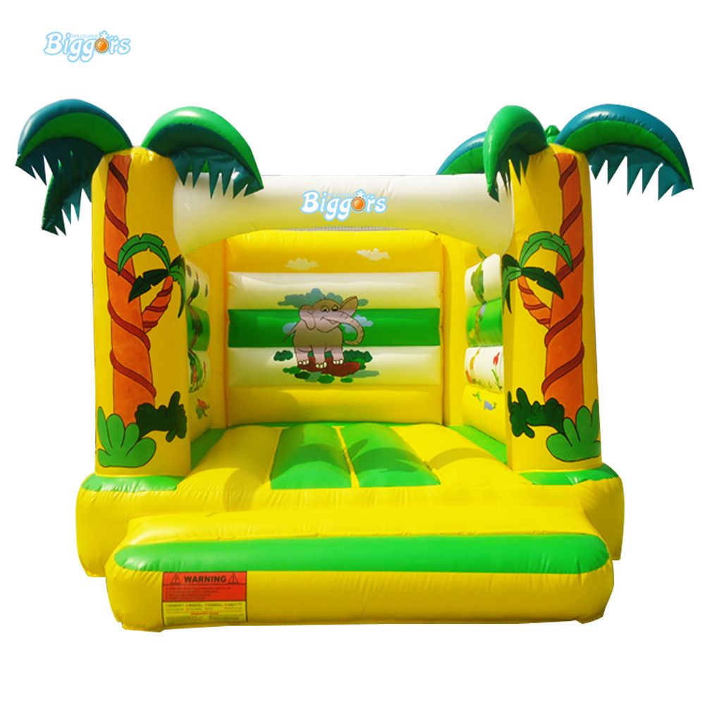 Jungle Inflatable Air Bouncer Trampoline Inflatable Small Bounce House For Sale tramp sun trampoline 12