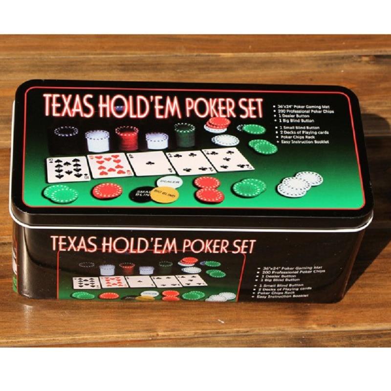 FGHGF Instock 200pcs Poker Chips Set u0026 Blackjack Poker Table Layout u0026 Dealer u0026 2 Blinds u0026 2 Playing Cards Set Gift-in Poker Chips from Sports ...  sc 1 st  AliExpress.com & FGHGF Instock 200pcs Poker Chips Set u0026 Blackjack Poker Table Layout ...