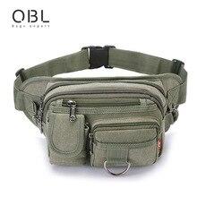 Casual Canvas Belt Bag Men Waist Pack Military Bum Bag Pouch Small Pack Casual Travel Pochete Bolso Cintura Homme Borsa 6908