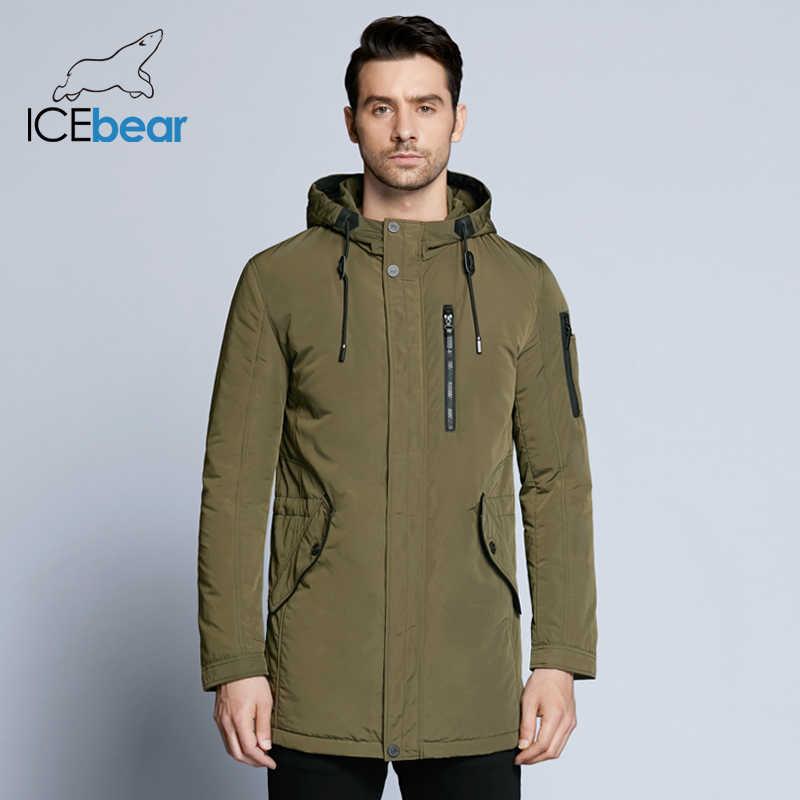 ICEbear 2019 neue herbst herren jacke kurzen mantel lässig mantel mit kapuze mann jacken hohe qualität stoff männer der baumwolle MWC18228D