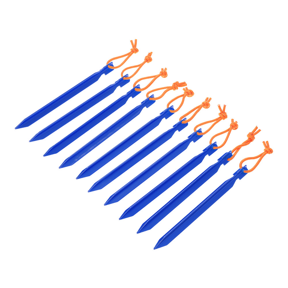 """Image 2 - TOMSHOO 10pcs/lot 18CM/7"""" V shape Tent Peg Camping Tent Stake with Reflective Rope Outdoor Traveling Tent Building Accessories-in Tent Accessories from Sports & Entertainment"""