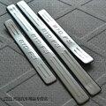 Venda quente! o envio gratuito de aço Inoxidável do peitoril da porta da placa do scuff 4 pçs/set acessórios do carro Para BYD F3