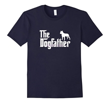 new men shirt American Staffordshire Terrier Amstaff The DogFather T-Shirt