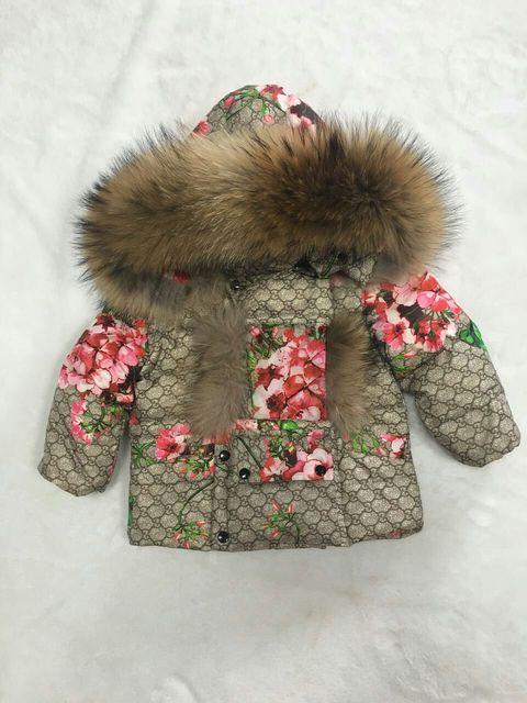 2016 Зимняя Куртка Девушки вниз пальто ребенок вниз куртки девушка утка вниз Меха с капюшоном с длинным дизайн пальто Костюм детей набор верхняя одежда