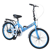USA 8 Corp All 20 Inch Single Speed Folding Bike Students Bike Subway Transit Vehicles Road Bicycle Outdoor Sports Exercise Bike for child gift