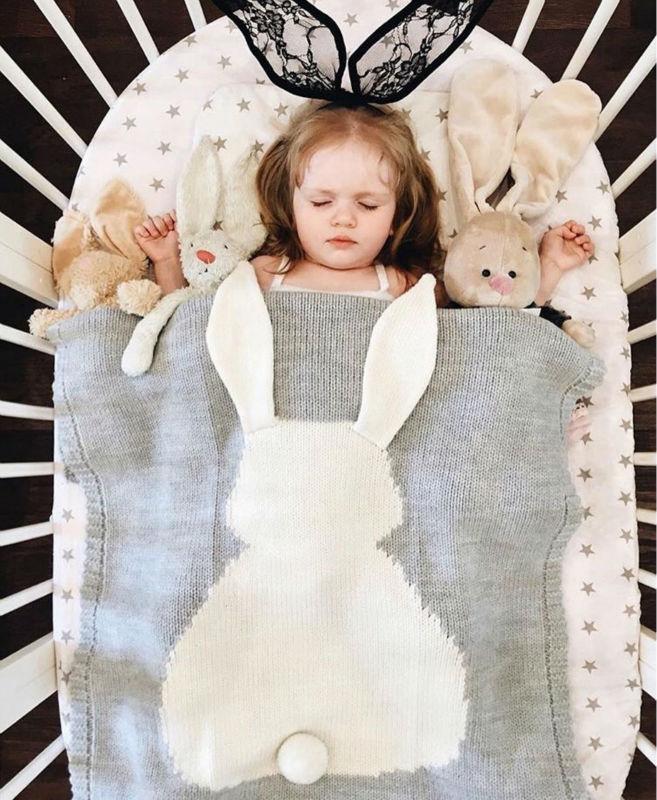 Koc dziecko bawełniane Duże ucho do królika pieluszki noworodka - Pościel - Zdjęcie 2