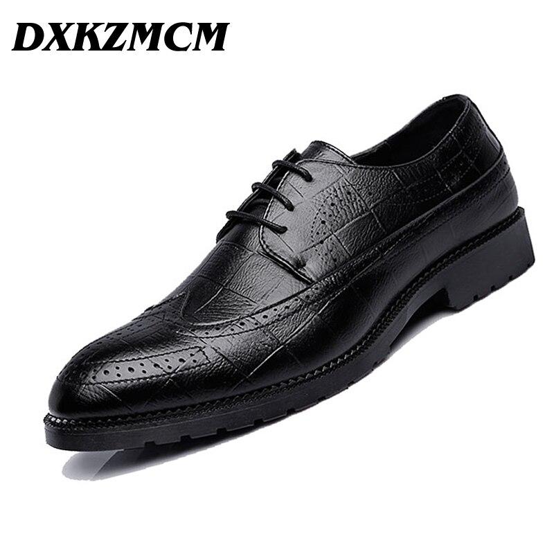 Handmade Men Shoes Microfiber Leather Men Dress Shoes Men's Business Casual Classic Gentleman Shoes