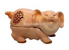 Hot-selling pig piggy bank metal piggy bank piggy bank gift pig shape money box pig jewelry box 8 20cm toy story hamm piggy bank pink pig coin box pvc model toys for children kid birthday gift