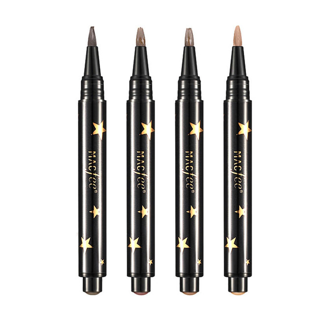 1 Pcs Black Brown Eye Brow Tattoo Press Kit Long Lasting Waterproof Liquid Mascara Cream Paint  Eyebrow Pencil Make Up 5