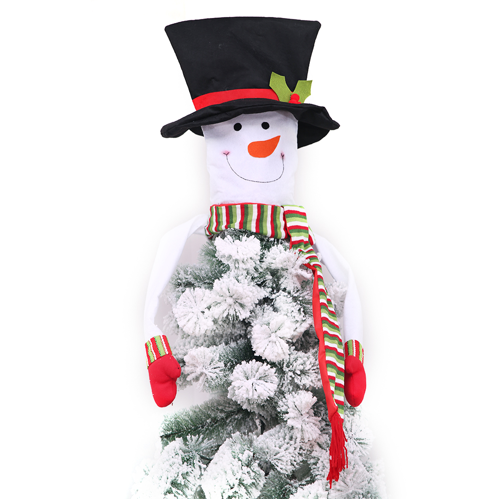 Christmas Snowmen Decorations.Us 9 0 40 Off Christmas Tree Toppers Christmas Snowman Tree Topper Xmas Holiday Winter Wonderland Party Decorations Ornament Supplies 40 Off In