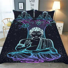 Bedding Set 3D Printed Duvet Cover Bed Set Yoga Seven Chakras Buddha Home Textiles for Adults Bedclothes with Pillowcase #YJ02 шторы тканевые seven fairy home textiles 6036 5