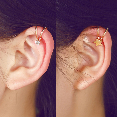 Korean Style Heart Star Pearl Ear Cuff Clip On Earrings For Women Fashion S Jewelry 5e202 In From Accessories Aliexpress