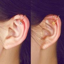Korean Style Heart Star Pearl Ear Cuff Clip On Earrings For Women