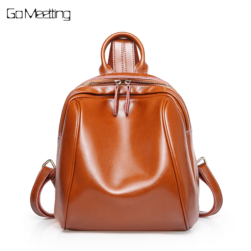Women Backpack Genuine Leather Women Bags Designer Casual Real Leather Laptop Backpacks Solid Female Trave BackPack School Bag рюкзак dakine 8210059 59 2