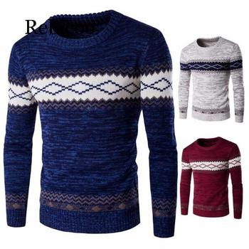 Men  fashion autumn / winter sweater Casual Striped Men O-Neck Pullovers Knitted Male  Long Sleeve 2019 Mens Sweaters Knitwear
