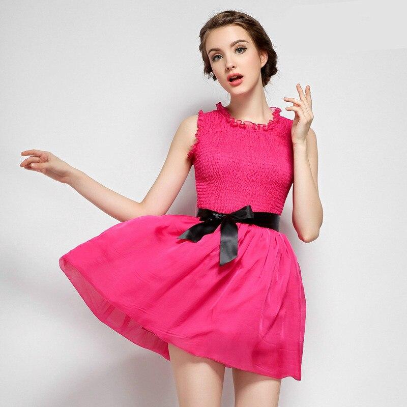 Sans manches mignon amour tenue décontractée 2019 été femmes Corset robe de bal Mini robe noire femmes Style coréen robes Vintage dames