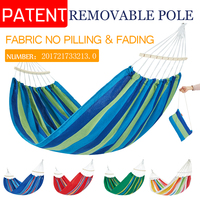 Hammock with spreader bar Double/Single High Quality Garden swing Sleeping bed Portable Outdoor Camping Garden hanging chair