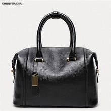 Women Genuine Leather Handbags Fashion Soft Messenger Bags Caual Tote Bags Women Famous Brands Pillow Shoulder Bag