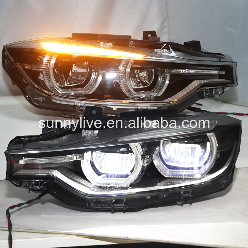 For BMW F30 F35 318 320 325 328 330 335 LED Angel Eyes Headlight Assembly CN