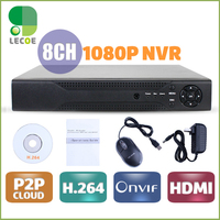 CCTV 8CH NVR Onvif H 264 HDMI High Definition 1080P Full HD 8 Channel Network Video