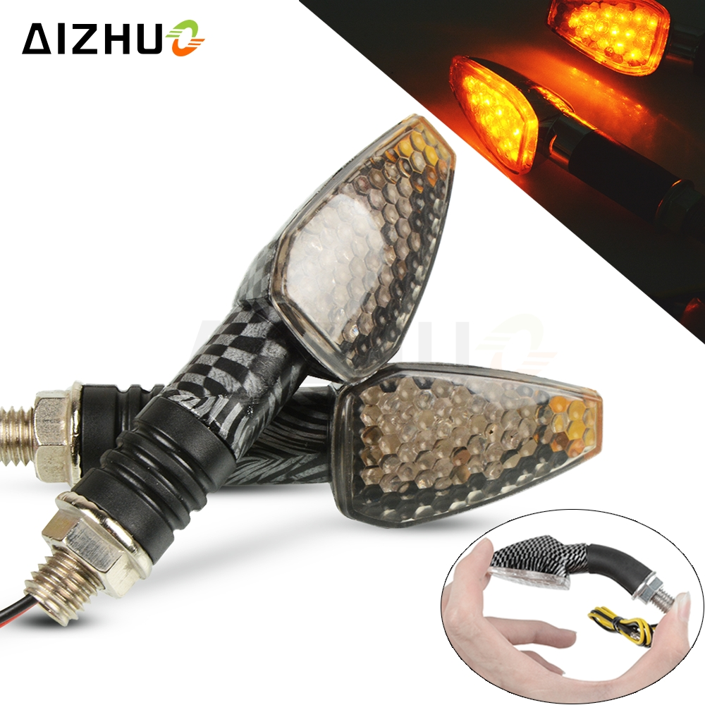 Motorcycle Turn Signal Light 12V LED Indicators Blinker Lamp For <font><b>SUZUKI</b></font> BURGMAN 400 <font><b>125</b></font> 600 BANDIT <font><b>GSR</b></font> 750 GSXR 1000 600 750 image