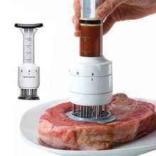 Meat Tenderizer Injectors Cooking-Tools Kitchen Gadgets Barbecue-Seasoning BBQ Stainless-Steel