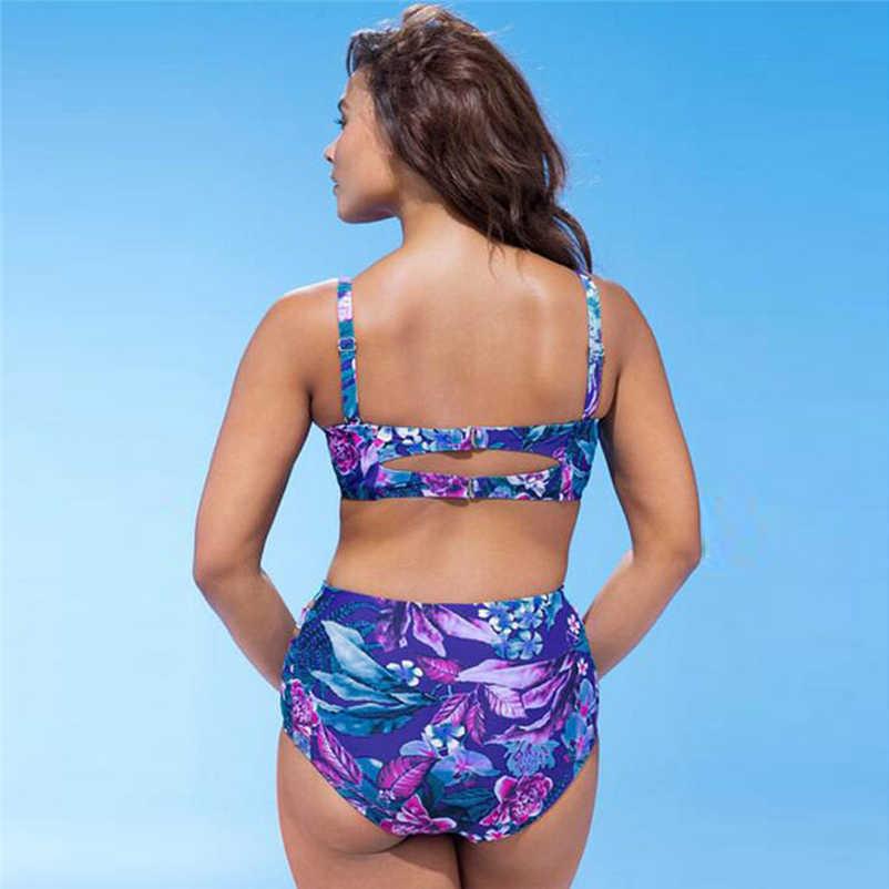 82c4d68c44 ... Large Size Striped Patchwork 2018 Women Push up Swimsuits Bikini set  Sexy Retro Swimwear Female Bandage