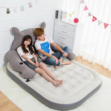 ship by dhl Totoro inflatable bed Air cushion bed Household portable outdoor anti bedsore thickening(China)