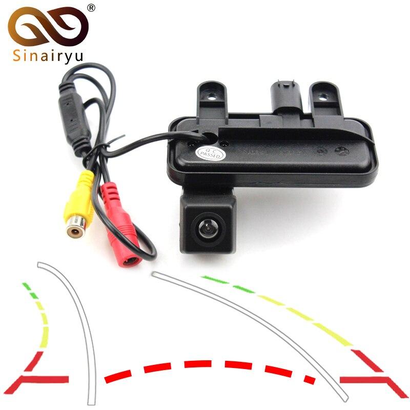 Sinairyu Car Trajectory Trunk Handle Rrear View Camera for Mercedes Benz E E200 E260 E300 E350 E63 W212 C207 W207 11~15