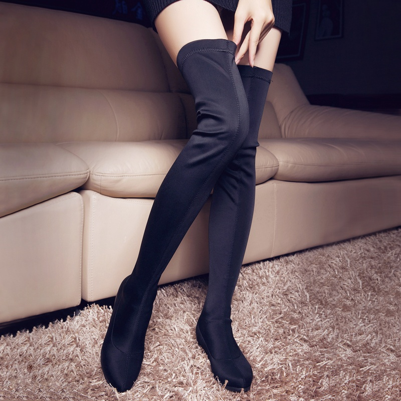 Online Get Cheap Flat Black Thigh High Boots -Aliexpress.com ...