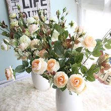 10pcs/lot high quality 67cm 1pcs Rose Artificial Flowers wedding Real Touch Wedding Bouquet Home Party