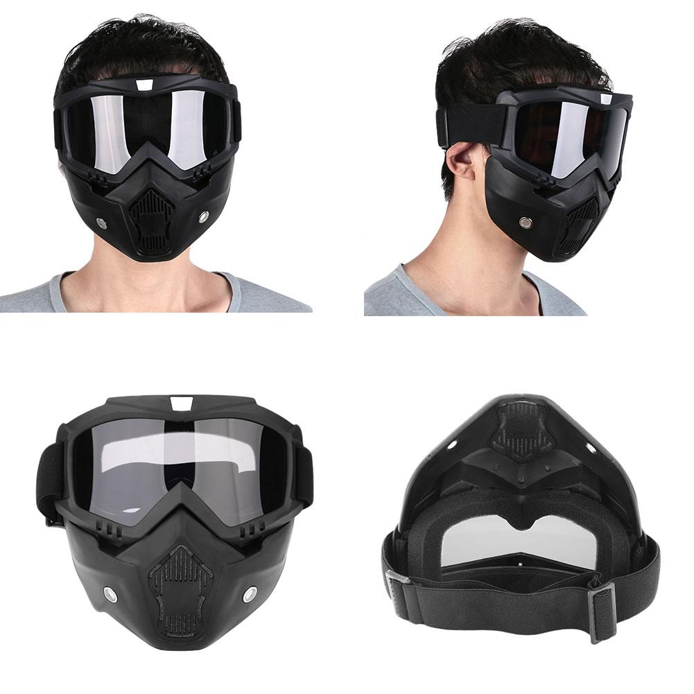 Съемный модульный мотоциклетный шлем для езды на мотоцикле маска с фильтром для лица - Цвет: grey