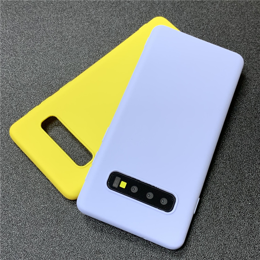 Matte Candy TPU Case For Samsung Galaxy S10 Lite S8 S9 Plus Note 9 8 5 A7 2018 S6 S7 Edge J3 J5 J7 2016 2017 J4+ J6 EU A6 A8(China)