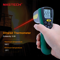 Mastech MS6522B Infrared Termometer Portable LCD Digital Thermometer 10 1 D S Non Contact Handheld Laser