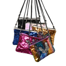 Fashion Women Sweet Messenger Bag Glitter Sequins Crossbody Shoulder Bag Small Envelopes Bags Party Clutch Handbags Kids' Gifts(China)