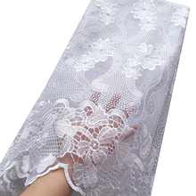 WorthSJLH Latest African Lace Fabric 2018 High Quality Nigerian Lace Fabric 2019 Cord Tulle French Laces Fabrics With Stones