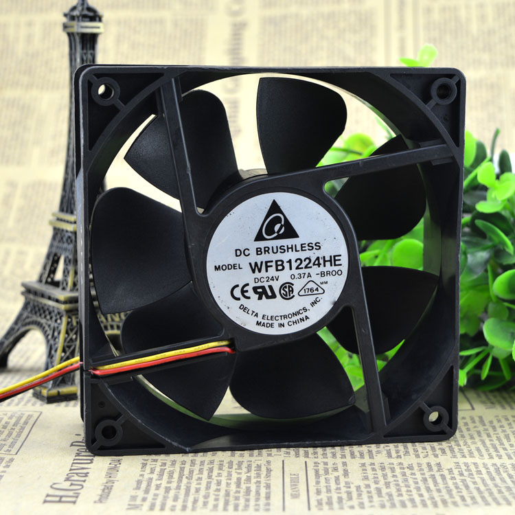 New original WFB1224HE-BROO 12038 12CM 24V 0.50A 3-wire inverter fan new original bp31 00052a b6025l12d1 three wire projector fan